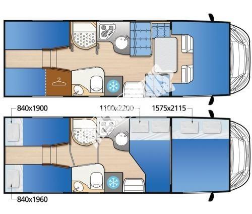 Obytný vůz McLouis Twid 73 G s alkovnou, garáží, 150 PS, Klimatizace č.12