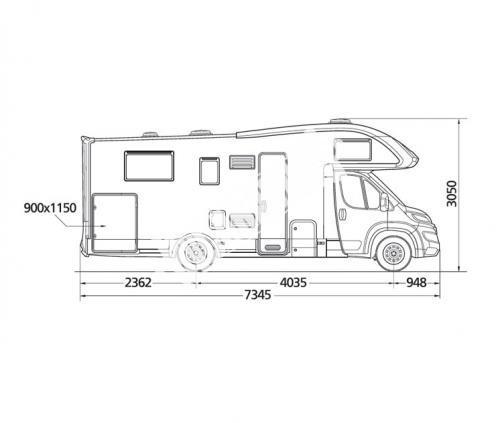 Obytný vůz McLouis Twid 73 G s alkovnou, garáží, 150 PS, Klimatizace č.13