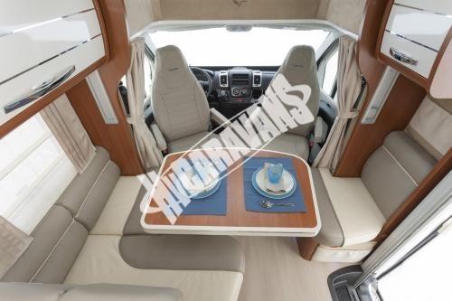 Polointegrovaný obytný vůz Mobilvetta P 62 s garáží 150 PS  Klimatizace  Safety Pack č.4