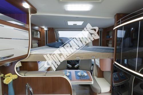 Polointegrovaný obytný vůz Mobilvetta P 62 s garáží 150 PS  Klimatizace  Safety Pack č.6
