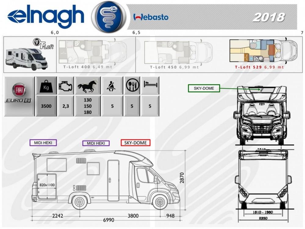 Prodej firemního vozu,polointegrovaný obytný vůz T-LOFT 529 model 2018 limitovaná edice,registrovaný vůz 12/2017 stav km 8200,odpočet DPH,top výbava č.5