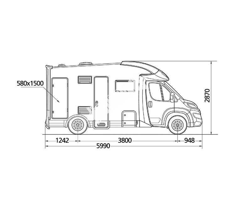 Polointegrovaný obytný vůz MC4 32 č.3
