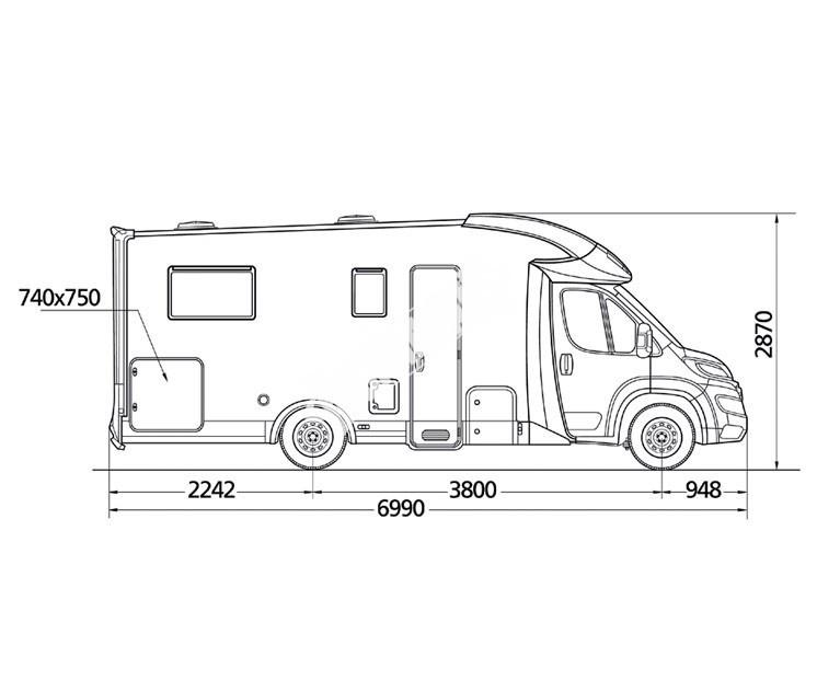 Polointegrované obytné auto MC4 69 č.3