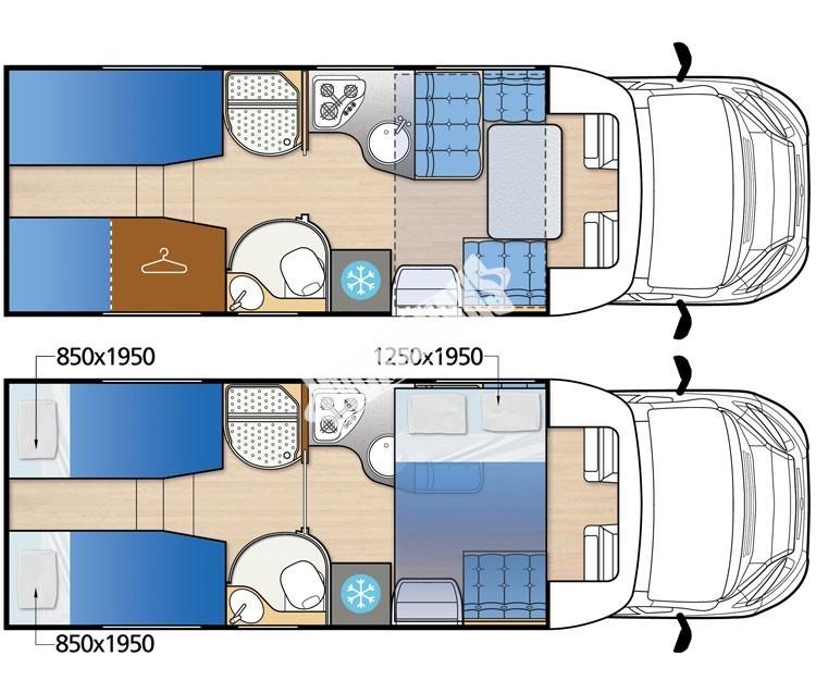 Polointegrované obytné auto MC4 73G model 2018 DIAMONT SILVER  Prodáno č.21