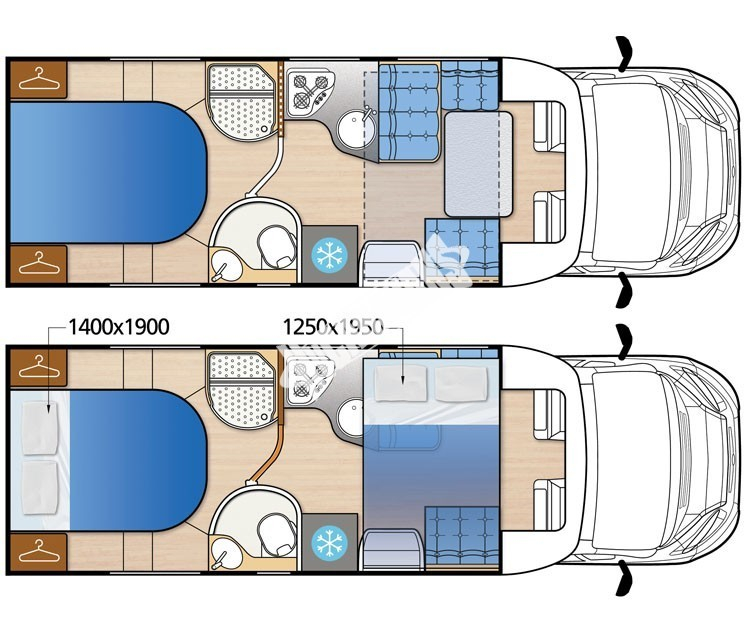 Polointegrovaný obytný vůz MC4 74G MODEL 2017 GOLD č.14