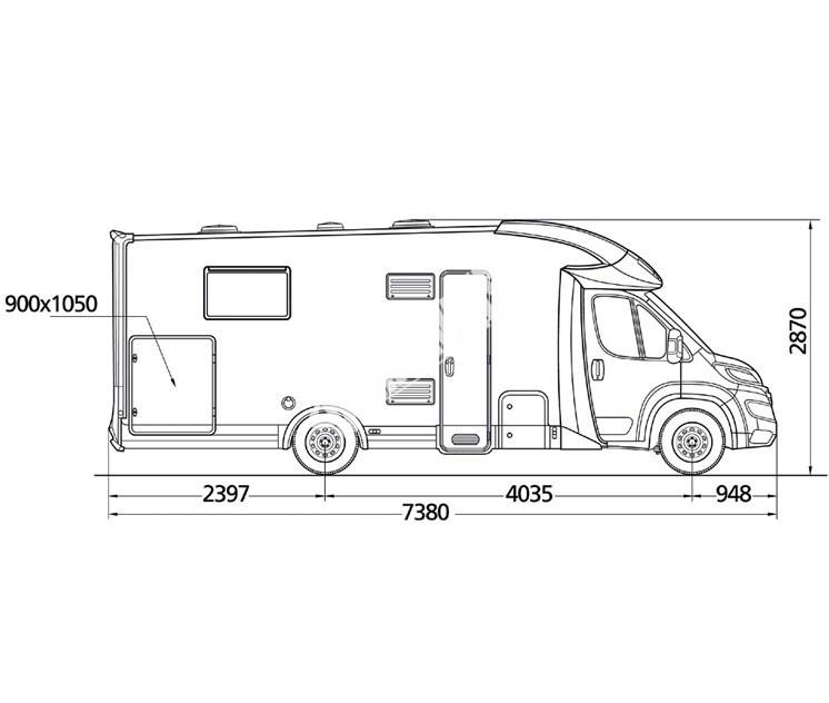 Polointegrovaný obytný vůz MC4 80 model 2018 GOLD č.11
