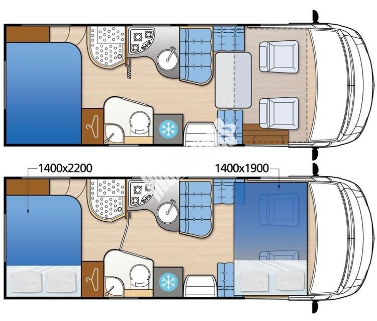 Celointegrovaný obytný vůz NEVIS 860G č.2