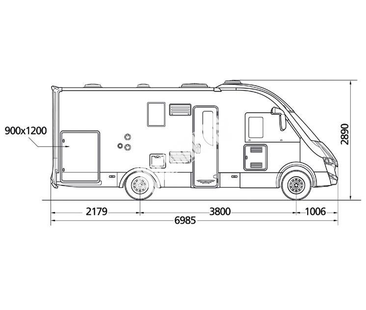 Celointegrovaný obytný vůz NEVIS 860G č.3