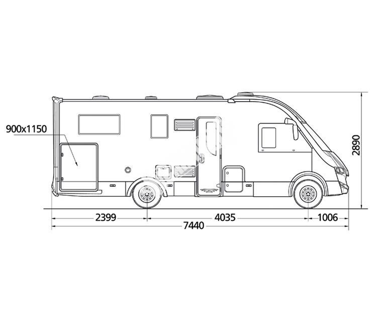 Celointegrovaný obytný vůz NEVIS 73G model 2018 DIAMONT č.15