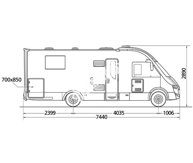 Celointegrovaný obytný vůz NEVIS 878 č.3