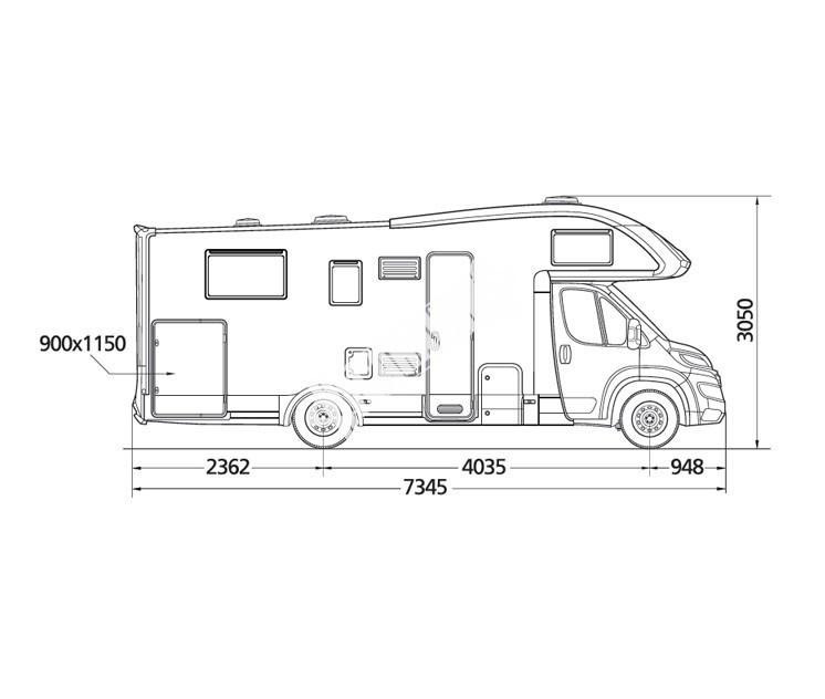 Karavan Twid 73G s alkovnou model 2017 č.5