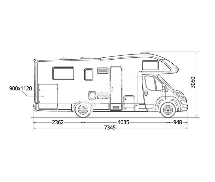 Obytný vůz Twid 74G s alkovnou model 2017 č.5