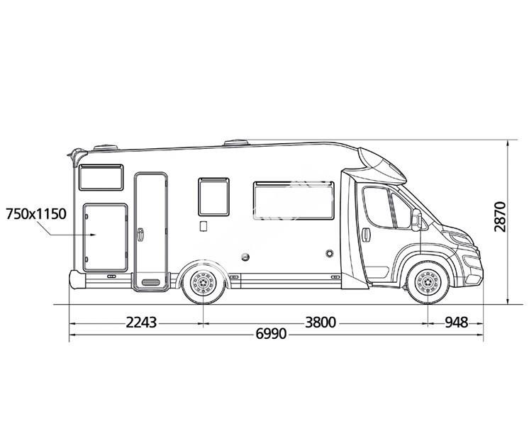 Polointegrovaný obytný vůz MC2 22 č.3