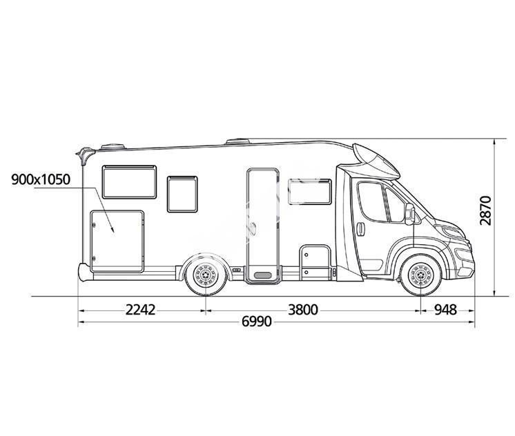 Polointegrovaný obytný vůz MC2 60G č.3