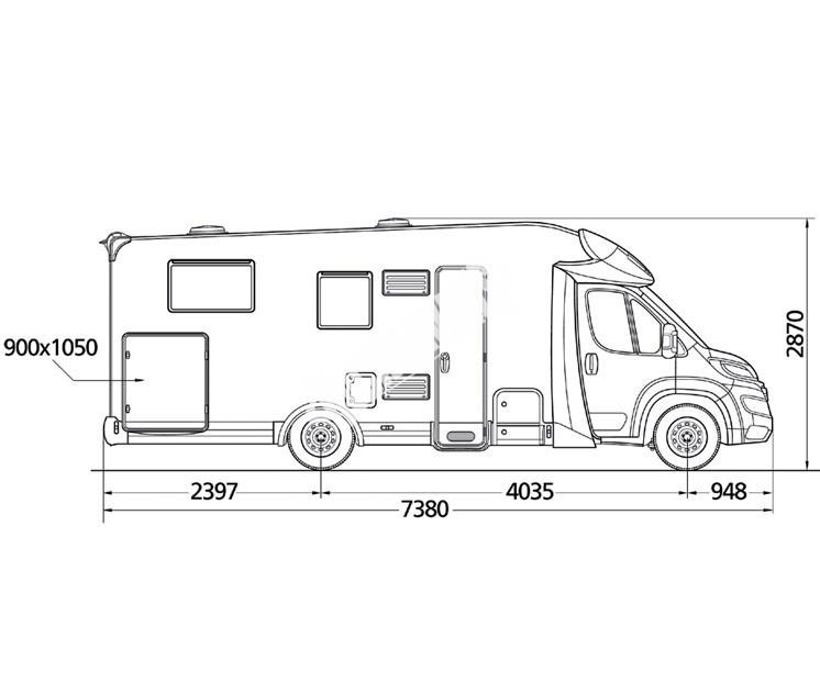 Polointegrovaný obytný vůz MC2 73G č.3