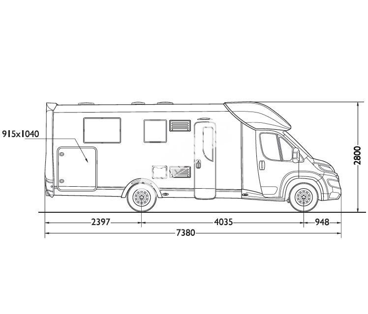 Polointegrovaný obytný vůz Mobilvetta KEA P63  model 2018 č.3