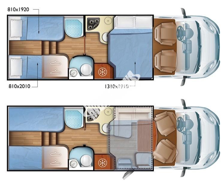 Polointegrovaný obytný vůz Mobilvetta K.Silver 56 model 2018 termín dodání skladem Mar Lázně Prodáno č.23