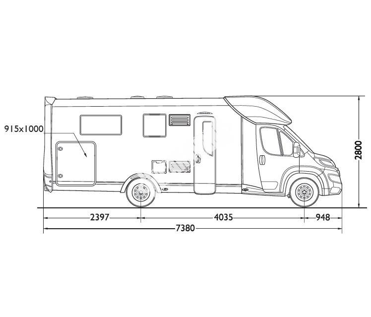 Polointegrovaný obytný vůz Mobilvetta K.Silver 56 model 2018 termín dodání skladem Mar Lázně Prodáno č.22
