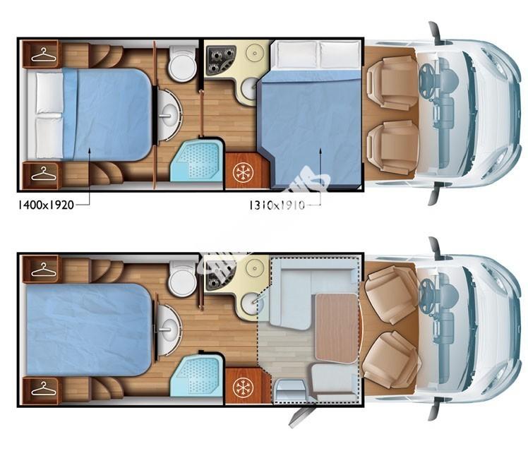 Polointegrovaný obytný vůz Mobilvetta KEA P69 model 2017 č.4