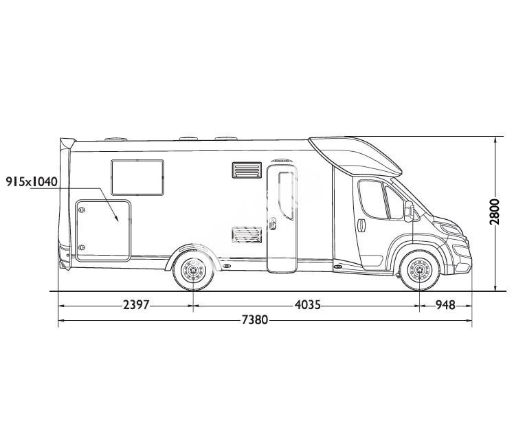 Polointegrovaný obytný vůz Mobilvetta KEA P69 model 2017 č.3