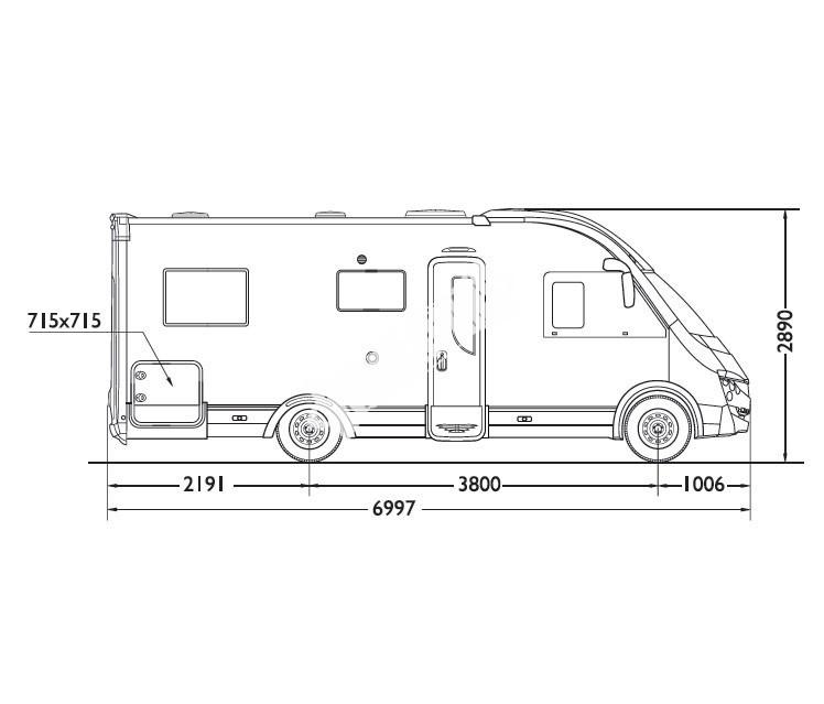 Celointegrovaný obytný vůz Mobilvetta K-YACHT 80 TEKNO LINE  model 2018 č.2