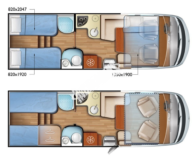 Celointegrovaný karavan Mobilvetta K-YACHT MH85 Tekno DESING model 2018 č.6