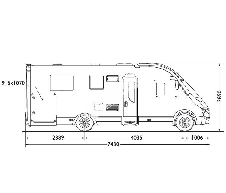 Celointegrovaný obytný vůz Mobilvetta K-YACHT MH 89 TEKNO DESING model 2018 č.5