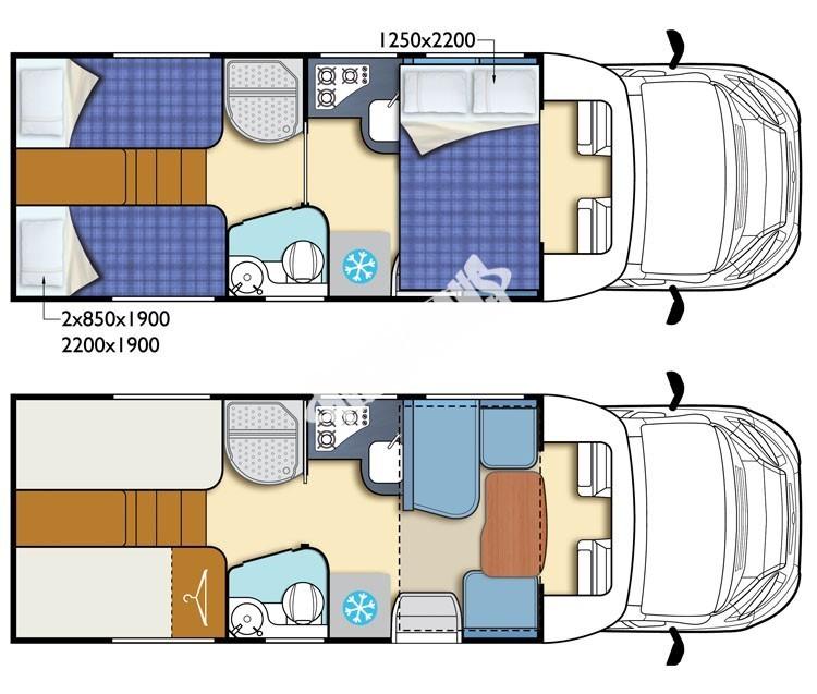 Polointegrovaný obytný vůz King 530 č.2