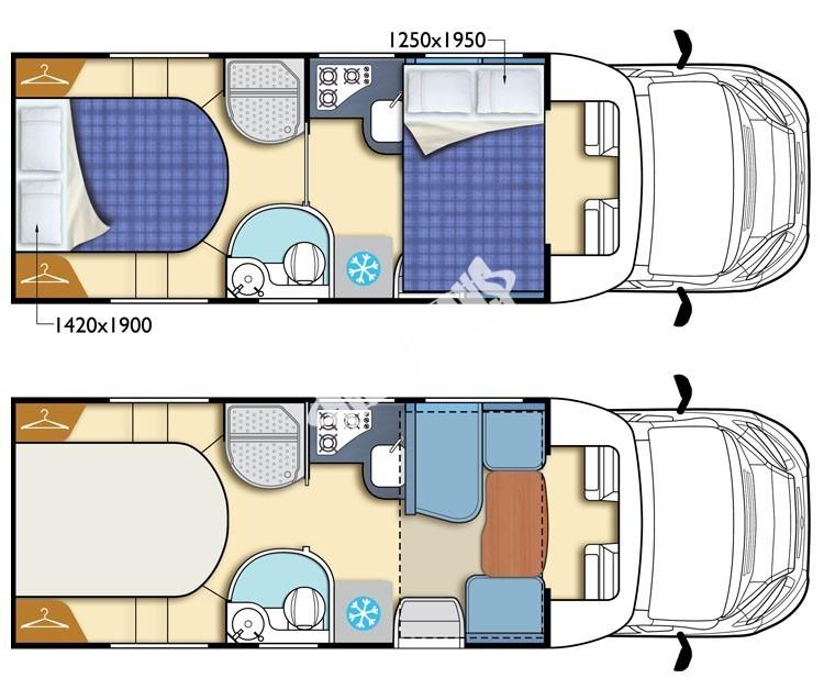 Polointegrovaný obytný vůz King 580 č.2