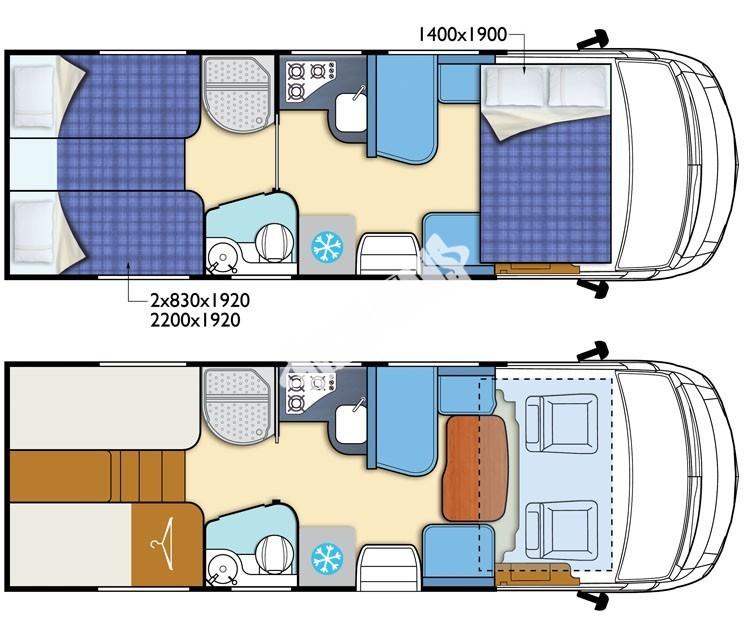 Celointegrovaný obytný vůz I-LOFT 530 model 2018 č.11
