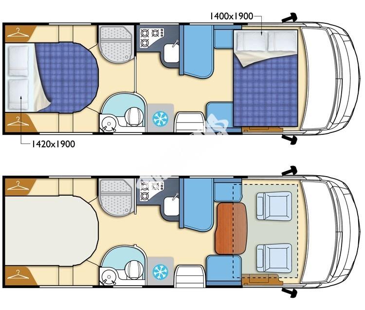 Celointegrovaný obytný vůz I-LOFT 581 model 2018 č.11