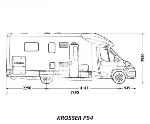 Polointegrovaný karavan MOBILVETTA KROSSER 99 č.2