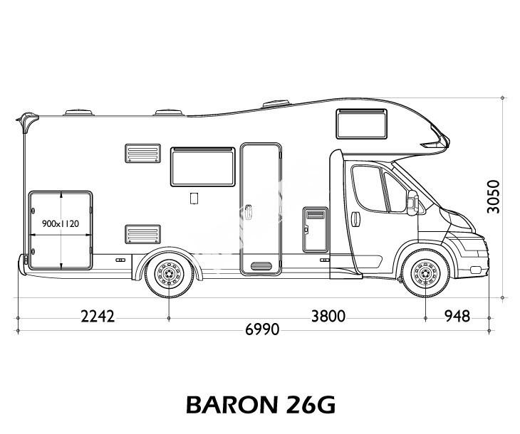 Obytné auto Baron 26g s alkovnou model 2018 č.2