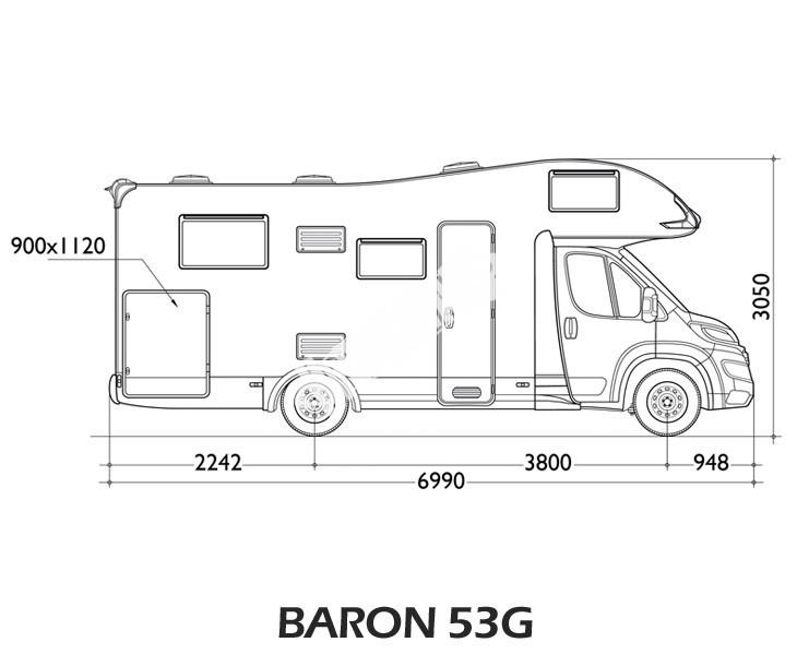 Obytný vůz Baron 53G s alkovnou model 2018 č.10