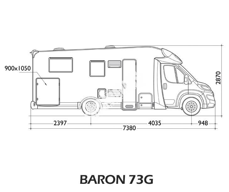Polointegrovaný obytný vůz Baron 73G model 2018 č.3