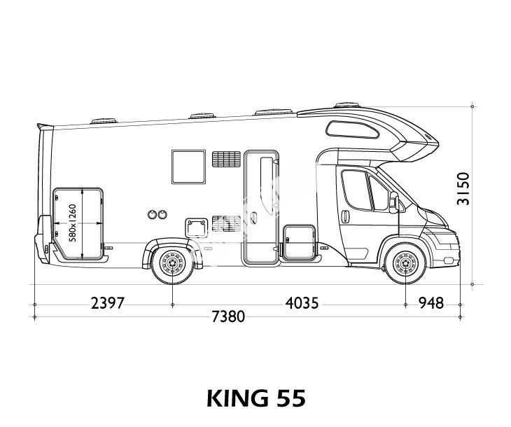 Obytný vůz King 55 s alkovnou č.3