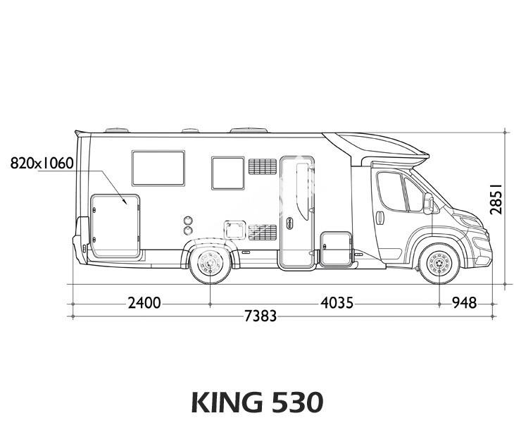 Polointegrovaný obytný vůz King 530 č.3