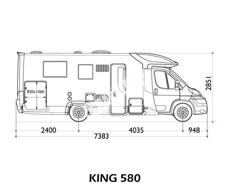 Polointegrovaný obytný vůz King 580 č.3
