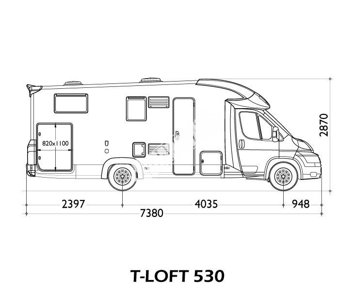 Polointegrovaný obytný vůz T-LOFT 530 model 2018 limitovaná edice skladem Mar-Lázně Prodáno č.7