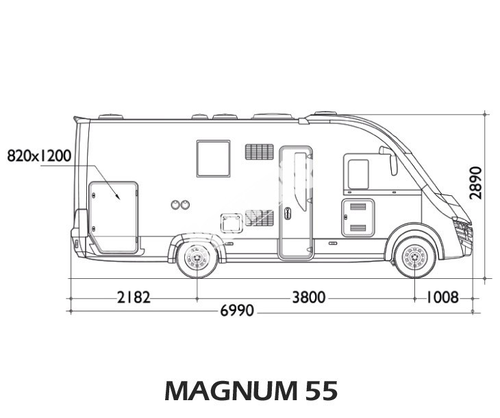 Celointegrovaný obytný vůz Magnum 55 č.3