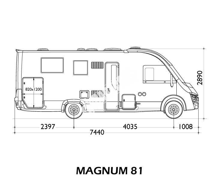 Celointegrovaný obytný vůz I-LOFT 581 model 2018 č.12