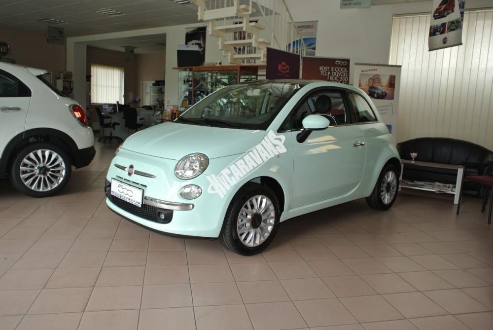 Fiat 500 1.2 PLUS Barva světle zelená TOP výbava + cena  0 KM  nový vůz č.1