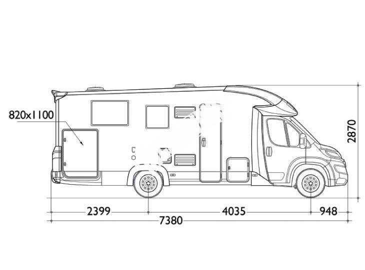 Polointegrovaný obytný vůz T-LOFT 591G  150 PS Limitovaná serie 65 TOP Safety Pack č.2
