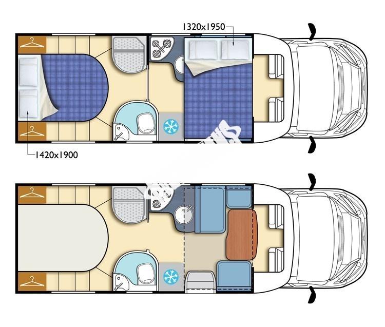 Polointegrovaný obytný vůz T-LOFT 591G  150 PS Limitovaná serie 65 TOP Safety Pack č.3