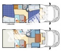 Polointegrovaný obytný vůz T-LOFT 450G Limitovaná serie 65 TOP Standartní výbava č.3