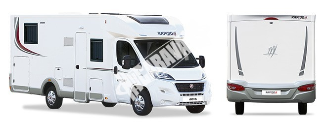 Obytný vůz Rapido 696 FF limitovaná serie 55 model 2017 k odběru 10/2016