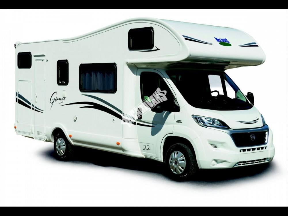 Obytný vůz GLAMYS 22. 7osob jízda/spani s alkovnou garáží 130 PS Klimatizace Safety Pack Alu kola č.1