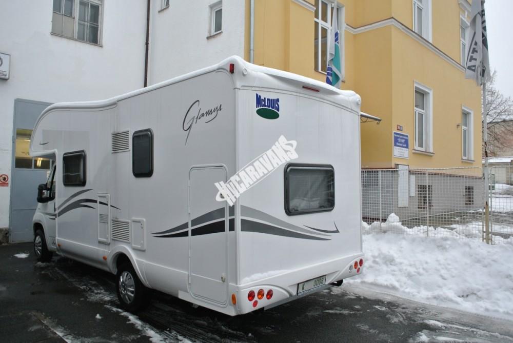 Obytný vůz GLAMYS 22. 7osob jízda/spani s alkovnou garáží 130 PS Klimatizace Safety Pack Alu kola č.24