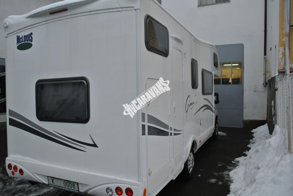 Obytný vůz GLAMYS 22. 7osob jízda/spani s alkovnou garáží 130 PS Klimatizace Safety Pack Alu kola č.25