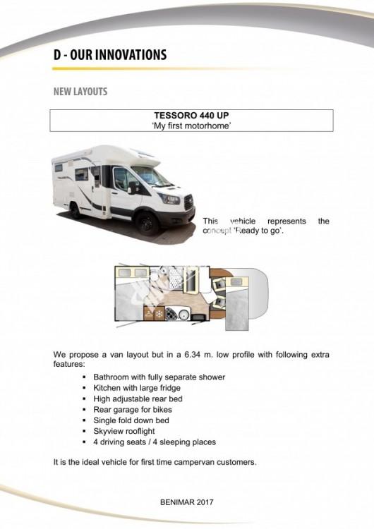 Obytný vůz Benimar Tessoro  UP 440 Limitovaná edice  2018 Top výbava, skladem Mar-Lázně,vůz na SPZ,registrovaný,odpočet DPH není možný,stav km 1020. č.25